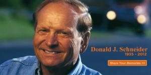 Donald Schneider, the founder of Schneider Transportation Services, has died at the age of 76. - Donald-Schneider-died-300x150